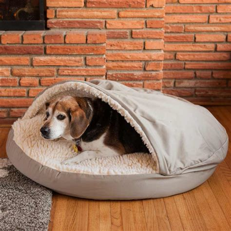 puppy bedding snoozer luxury orthopedic cozy cave bed 30 colors