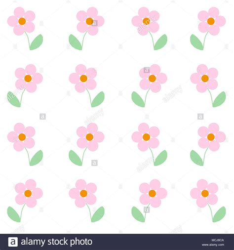 background print illustrated baby pink flowers simple print to be