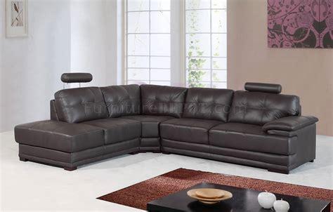 dark brown sectional sofa dark brown leather modern sectional sofa w adjustable