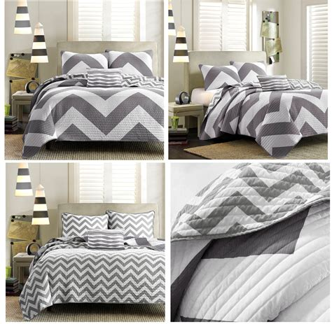 black and white twin bedding gray chevron comforter home ideas