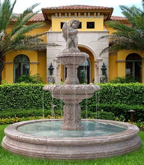 water fountains front yard and backyard designs garden fountains garden decorations and