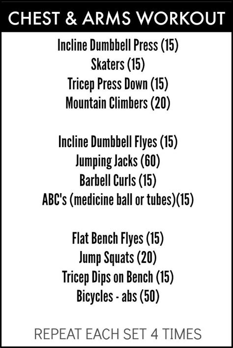 prep chest and arm workout hwh fitness