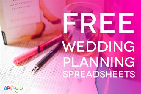 customizable   wedding spreadsheets