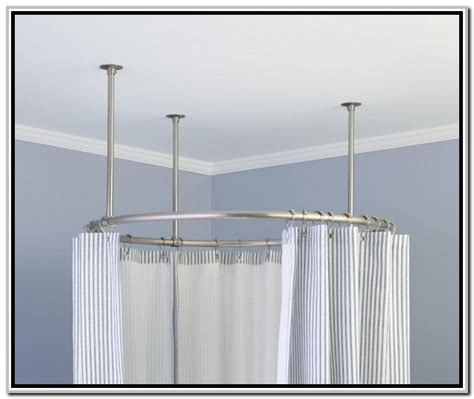 shower curtain round rod round shower rod signature hardware for any shower