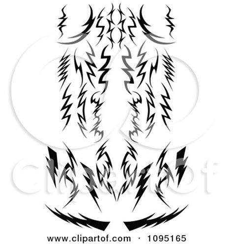 tribal lightning tattoo clipart black and white tribal lightning bolts arrows and