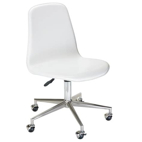 White Leather Desk Chair Office Chair Review Chair For Desk