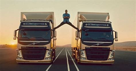 jean claude van damme volvo ad star  splits   moving trucks mirror