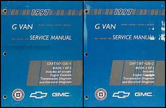 1996 express savana repair shop manual 2 volume set original 1997 express savana repair shop manual 2 volume set original