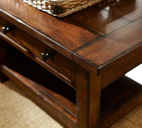 benchwright rectangular coffee table pottery barn ca