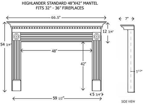 standard mantel height wood fireplace mantels builder mantels highlander