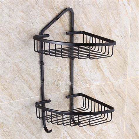 Black Wire Corner Shelf by Triangle Wire Black Corner Shelves Bathroom Wall