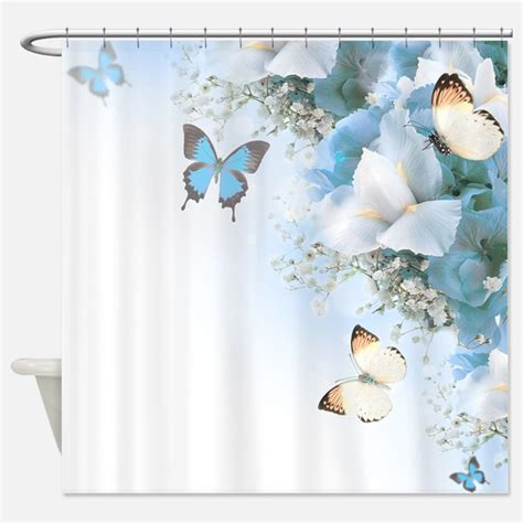 Butterfly Shower Curtain by Flowers And Butterflies Shower Curtains Flowers And