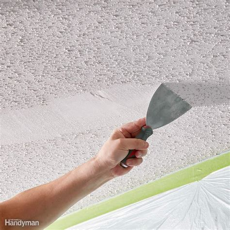 11 Tips On How To Remove Popcorn Ceiling Faster And Easier How To Scrape Ceiling