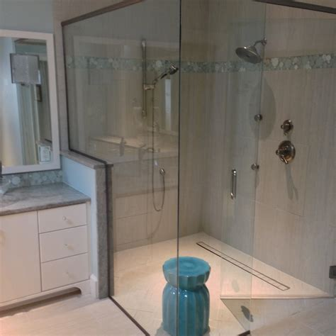 curbless bathroom showers tips to make curbless shower pan the wooden houses