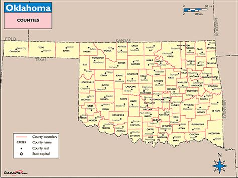 map of oklahoma counties oklahoma county images