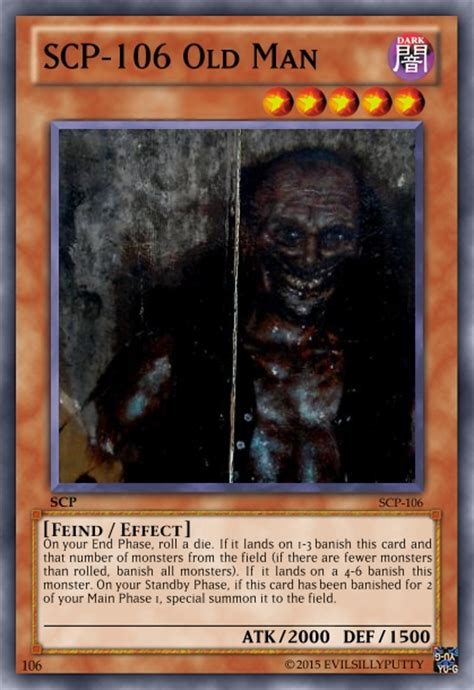 Scp 106 Yugioh Card By Evilsillyputty On Deviantart