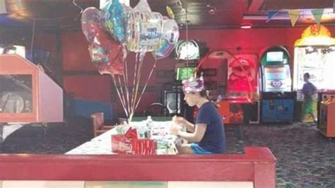 heartbreaking photo  autistic girl eating birthday cake   viral aol news