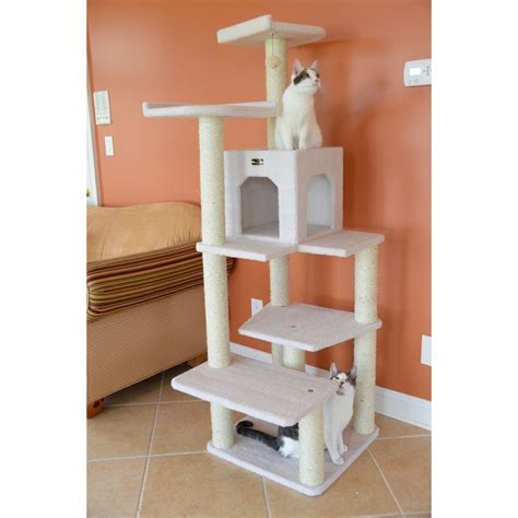 cat tree gym furniture scratcher house tower bed