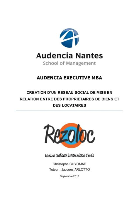 Différence Entre Mba Et Executive Mba by E Mba Christophe Guyomar Business Plan Rezoloc