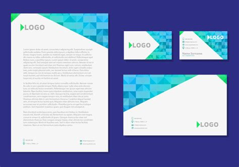 business card and letterhead vector letter design business cards corporate identity