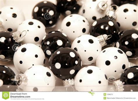 black and white christmas ornament stock photo image