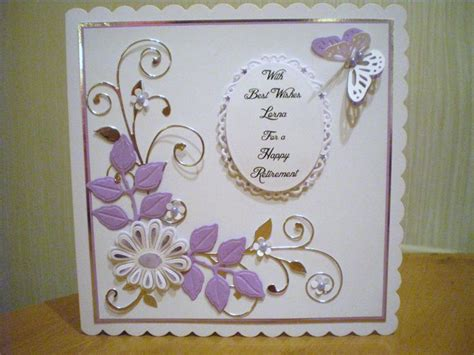 Handmade Retirement Cards - retirement card using tonic dies my personalised cards