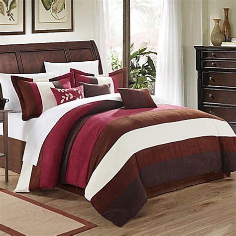 burgundy comforter set queen buy chic home katherine 7 piece queen comforter set in