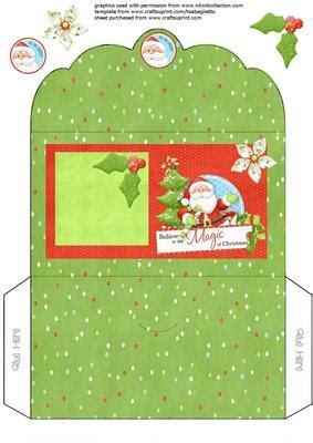 santa gift voucher money envelope wallet cup craftsuprint