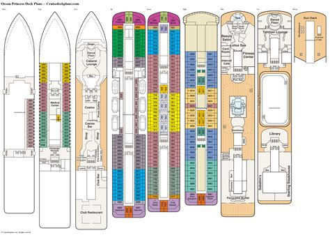 cruise ship floor plan ocean princess deck plans diagrams pictures video