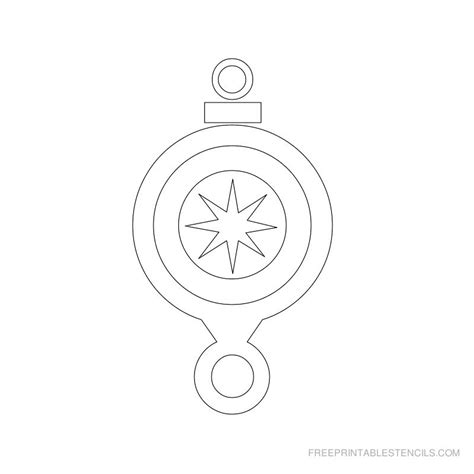 free printable christmas ornament stencils free