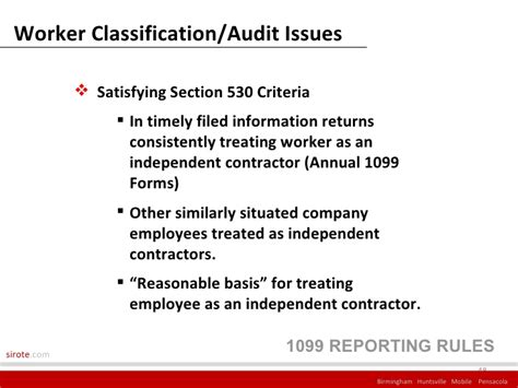 section 530 relief 1099 presentation