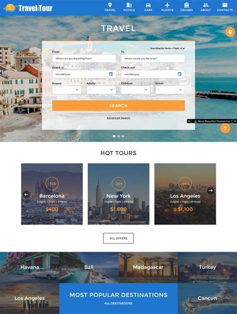 70 best travel website templates free premium