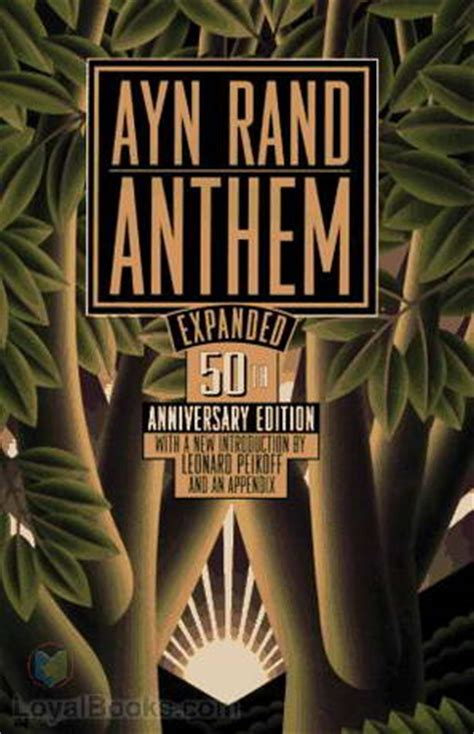 anthem books anthem by ayn rand free at loyal books