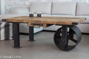 Table Ovale Pied Central Design #15: Wheel-coffee-table-2.jpg