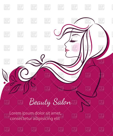 beauty layout vector beauty salon banner profile of beautiful woman s face