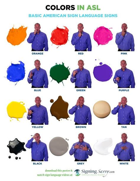 colors in american sign language asl homeschool sign