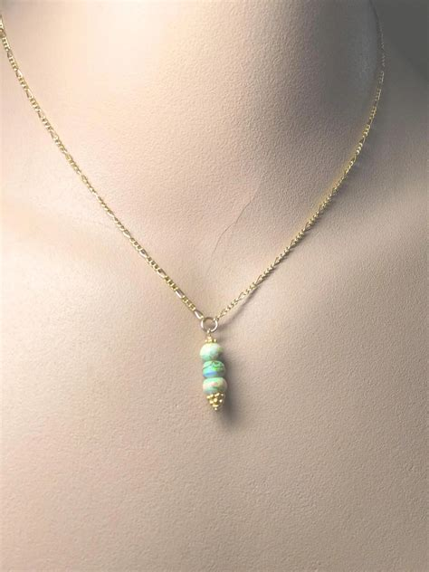 Opal Drop Necklace opal drop gold filled pendant necklace gem bliss jewelry