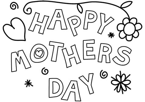 happy mothers day coloring page 30 free printable s day coloring pages