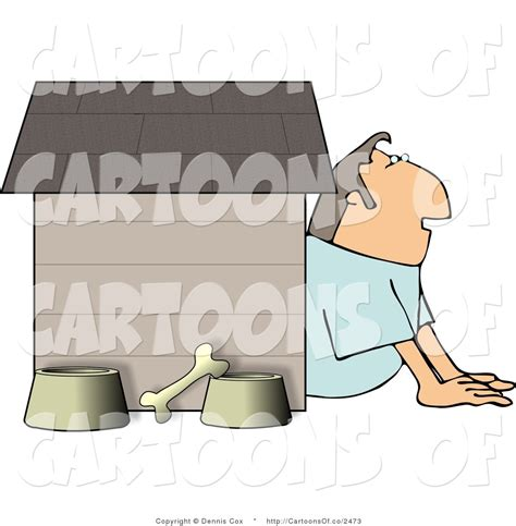 man in the dog house cartoon illustration of a man waiting in the dog house by djart 2473