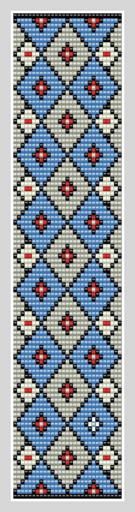 beading patterns pdf bead loom cuff pattern pdf pattern geometric bransoletki