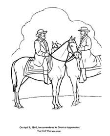 the american civil war coloring pages us history