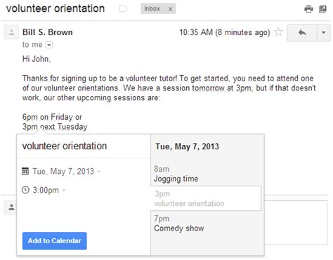 Calendario G Mail Official Gmail Add Events To Calendar From Gmail