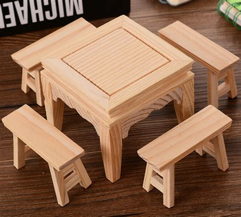 kidkraft table and bench set kids children pretend toys wooden doll house furniture