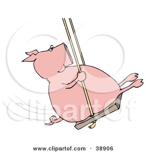 swinging pig playground posters playground art prints 9