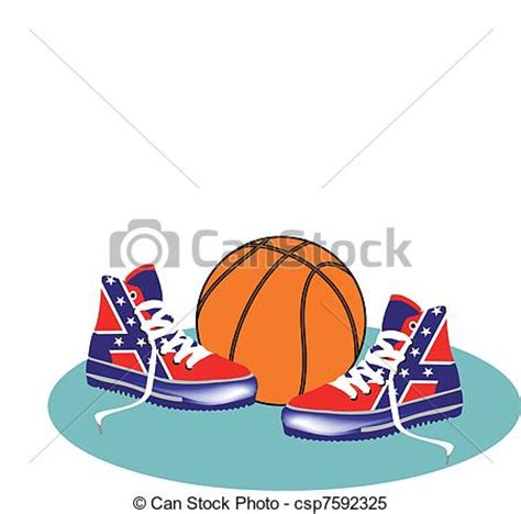 basketball shoes clipart clipart vector of shoes basketball shoes csp7592325