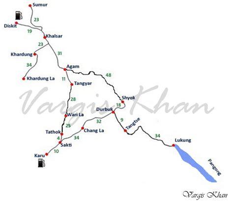 road map from mapusa to pandharpur nubra valley to pangong tso route guide vargis khan
