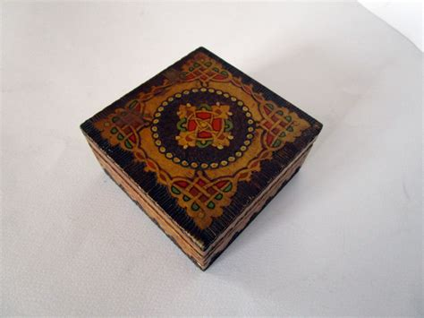 Jewelry Box Handmade - vintage handmade wooden box vintage jewelry box