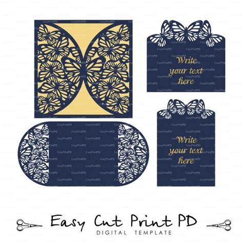 Card Template For Cricut by 246 Best Wedding Invitation Templates Cutting Files Svg