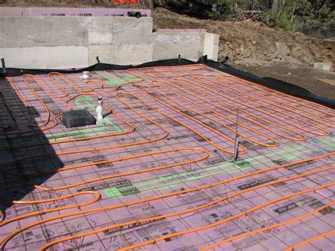 pex on mesh radiant floor slab installing radiant floor heating bend oregon bend heating