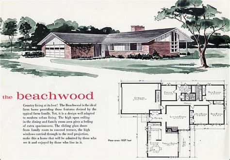 1960 beachwood house plan a photo on flickriver